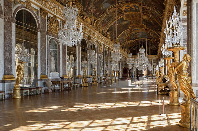 Galerie des Glaces - Hall of Mirrors in the Palace of Versailles