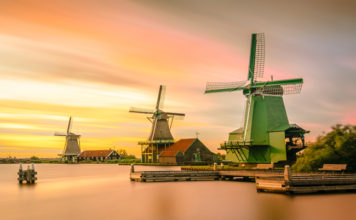 The Windmills in Holland